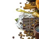 """""""Шоколад и кофе"""" рекламный плакат"""