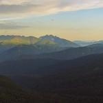 Главный Кавказский хребет вид с плато Лаго-Наки