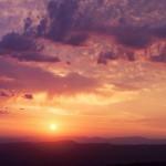 Восход над горами Кавказа