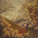 """""""О лестницах"""" масляная живопись"""
