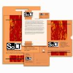 """Элементы фирменного стиля на разных носителях, стиль для проекта """"SOLT"""""""