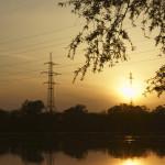 Река Кубань на закате