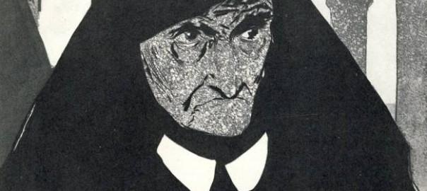 Э. К. Окас, «Ненависть», акватинта