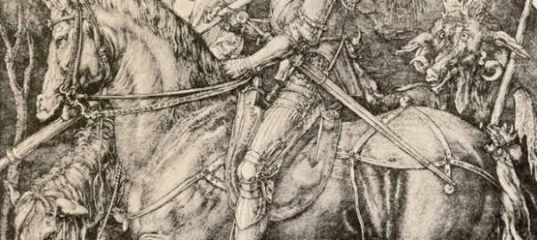 Альбрехт Дюрер «Рыцарь, смерть и Дьявол», офорт